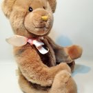 "Applause Teddy Bear Plush Camembert Beige Brown Stuffed Animal 18"" Jointed"