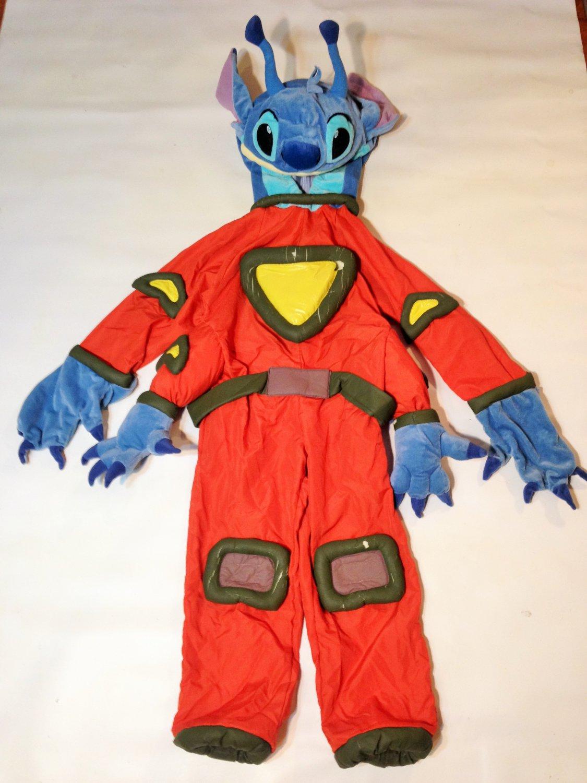 Disney Store Lilo And Stitch Orange Space Costume Kids XS Halloween SMALL