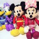 Disney JR Roadster Racers Plush Mickey Minnie Donald Daisy Beanies Set of 4