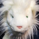 "Lowe Valentini White Lion RARE Plush Lingerie PROMO Stuffed Animal 15"" Aqua Eyes"