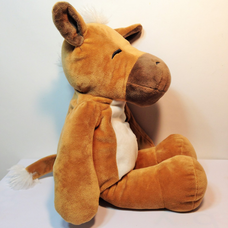 "Manhattan Toy Huggables Hugo Brown White Horse Plush Pony Soft Toy 15"""