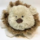 Carters Lion Plush RARE Grey Stuffed Animal Floppy Lovey Bean Bag Beanie Toy 9""