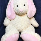 Toys R Us RARE Bunny Rabbit Plush GIANT White Pink JUMBO Stuffed Animal Lop Ears