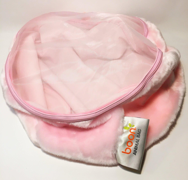 """Boon Animal Bag Pink RARE Stuffed Plush Plushie Large Storage 24"""" x 14"""""""