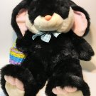 JC Penney Bunny Rabbit RARE Black White Pink BIG Plush Toy LARGE Stuffed Animal