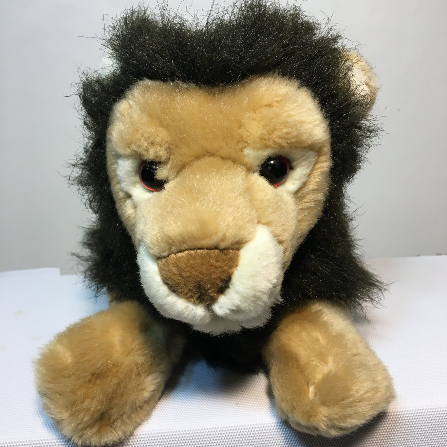 "Gund Lion Roman Stuffed Brown Plush Toy Animal 31121 Tan 13"" Cat"