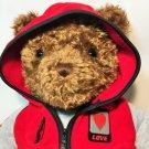 """Gund Wish Bear Plush Brown X-LARGE 2000 Stuffed Animal Toy Red Hoodie 27"""""""