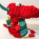 Hallmark Red Dragon Plush Hand Puppet Large Stuffed Animal Soft Doll Toy 12""