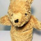 "Disney Classic Winnie Pooh Bear RARE Plush Puppet HTF 9"" Brown Stuffed Animal"