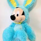 Disney Mickey Mouse Scented Plush in Blue Easter Bunny Rabbit Teal Costume 17""