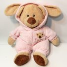 """Ty Pluffies Pink Love To Baby Bear 12"""" Non-Removable Bunny Pajamas 2005 Pluffy"""
