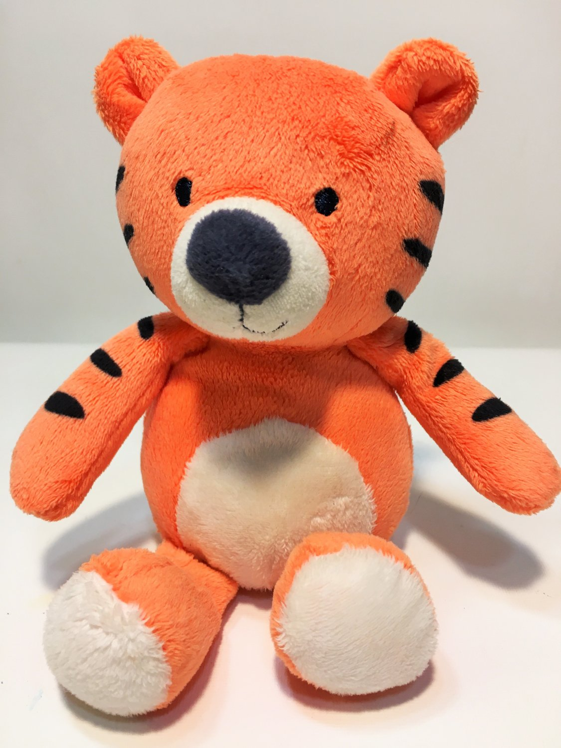 Carter's Tiger Plush Orange White Rattle Just One You Stuffed Animal Baby Toy