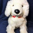 "RARE Disney Store MC Puppy Paws Plush HTF White Dog Sitting Stuffed Animal 14"""