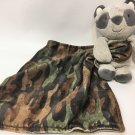 Carter's Gray Plush Raccoon Camouflage Green Baby Security Blanket Rattle Infant
