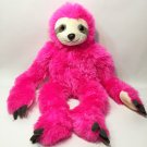 "Fiesta Pink Cuddle Sloth Plush Soft Stuffed Animal Toy 20"" Hanging Arms"