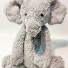 "Jellycat Bashful Grey Elephant Plush RARE Gray Stuffed Animal Medium 12"" Lovey"