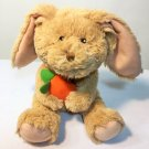 Children's Place Bunny Rabbit Plush Holding Carrot Tan Brown Stuffed Animal 10""