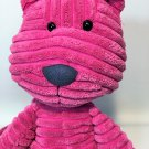 Jellycat Cordy Roy Pink Fuschia Cat Plush LARGE Corduroy Stuffed Animal 16""