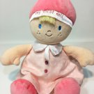 Nat & Jules Demdaco My First Doll Pink Baby Plush Polka Dot Dress Blonde Girl