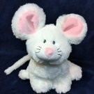 "RARE Ganz Webkinz JR. White Mouse Plush Stuffed Animal WJS203 - No Code 9"" HTF"
