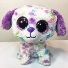 "Ty Beanie Boos Dog Darling Justice Plush Rainbow Confetti Polka Dots 6"" - No Tag"