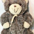"RARE Vintage Commonwealth Teddy Bear Plush Gray White Stuffed Animal 14"" HTF"
