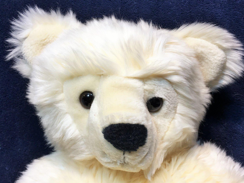 "Ty Vanilla Bear Classic Plush Cream Korea 1995 Stuffed Animal Toy 17"""