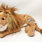 "Disney's Animal Kingdom Lion Plush Big Cat Laying Brown Stuffed Animal Toy 15"""