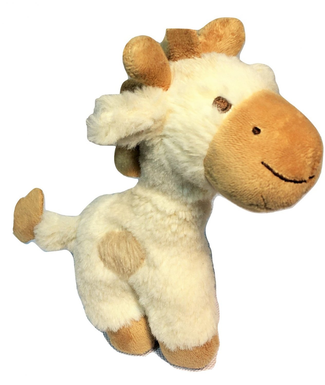 "Baby Gund Safari Rattle Niffer Giraffe Plush Stuffed Animal Cream Tan 6"" small"