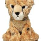 "Plush Leopard Cheetah Baby Cub Cat Sitting Realistic Animal Plush Toy 8.5"""