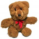 Applause Baritone Teddy Bear Plush Vintage Brown Stuffed Animal 23700 Red Bow