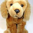 """Golden Retriever Plush Dog Animal Alley Lying Brown Stuffed Animal 12"""" Geoffrey"""