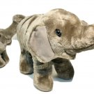 "Ringling Bros Barnum Bailey Circus Plush Gray Elephant Mother 16"" & Baby 10"" Toy"