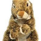 "WWF Woodland Bunny Rabbit Sitting Brown Stuffed Animal Toy Living Planet 12.5"""