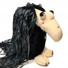 "RARE Trudy Vintage Vulture Plush Buzzard Bird Black Stuffed Animal 9"" Korea"