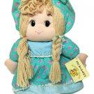 RARE Vintage Ragdoll Stuffed Plush Blue Dress Red Stars Brooklyn Doll Toy Co HTF