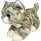 """Aurora Miyoni Plush Cat Kitten Striped Playful Pounce Gray Green Kitty Tabby 9"""""""
