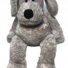 "Russ Berrie Schmoozy Gray Puppy Dog Soft Grey Plush Stuffed Animal Toy Beans 14"""