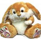 "Kellytoy RARE Easter Bunny Rabbit Plush Brown Stuffed Animal Spring Doll 8"" TAG"