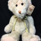 "RARE Ivory White Teddy Bear Plush T. L.Toys Bean Bag Stuffed Animal NWT 14"" TAG"