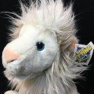 "White Lion Plush Petting Zoo RARE Big Cat Stuffed Animal Blue Eyes NWT 12"""