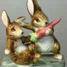 "RARE Beatrice Potter Fierce Bad Rabbit Porcelain Music Spinner Figurine 7"" -1985"
