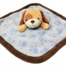 Koala Baby Security Blanket Brown Puppy Dog Plush Blue Blankie Lovey 12""