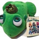 "Fran Swa Plush Frog Eyeball Animation Green Hand Puppet Accord Publishing 7"""