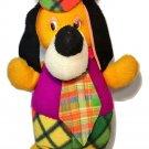 """Vintage Huckleberry Hound Dog HUGE 25"""" JUMBO Stuffed Animal Plaid Purple Orange"""