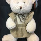 "Treasure Chest Toys Teddy Bear Beige Stuffed Animal Sun Dress 12"" TAG"