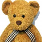 Kellytoy Teddy Bear Plush Sparkle Golden Brown Bean Bag Stuffed Animal Floppy