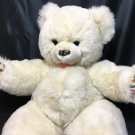 """RARE White Teddy Bear Floral Paws Plush Westcliff Collection Stuffed Animal 20"""""""