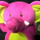 Sweet Sprouts Elephant Plush Hot Neon Pink Green Stuffed Animal Adventure NEW