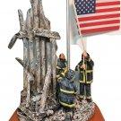 "Vanmark Red Hats of Courage ""Image of Hope"" Firefighter Firemen Statue WTC 2001"